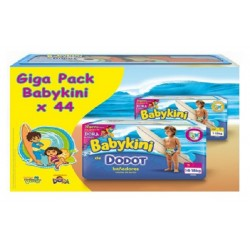 Pack 44 Couches de bains Dodot Baby Kini taille 5 sur Tooly