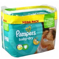 Pack de 340 Couches Pampers de la gamme Baby Dry taille 3+ sur Tooly