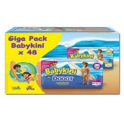 Maxi Pack d'une quantité de 48 Couches de bains de la marque Dodot Baby Kini taille 3 sur Tooly