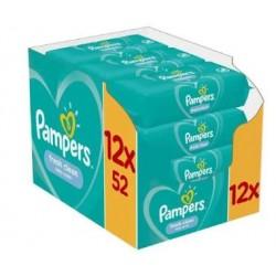 Pack jumeaux 520 Lingettes Bébés Pampers Fresh Clean sur Tooly