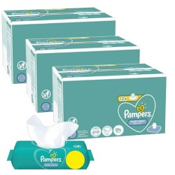 Pack jumeaux 624 Lingettes Bébés Pampers Fresh Clean sur Tooly