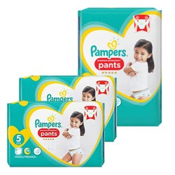 Mega pack 120 Couches Pampers Premium Protection Pants taille 5 sur Tooly