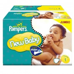 Maxi Pack de 172 Couches Pampers de la gamme New Baby Dry taille 1 sur Tooly