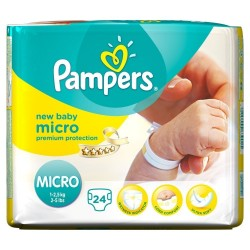 Pack de 24 Couches Pampers New Baby Micro de taille 0 sur Tooly