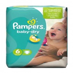 Pack 31 Couches Pampers Baby Dry taille 6 sur Tooly