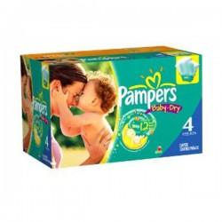 Pack économique de 264 Couches Pampers de la gamme Baby Dry de taille 4 sur Tooly