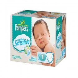 Maxi Pack 299 Couches Pampers de la gamme New Baby Sensitive taille 1 sur Tooly