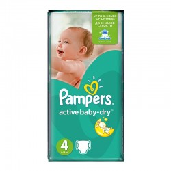 Pack 70 Couches Pampers Active Baby Dry taille 4 sur Tooly