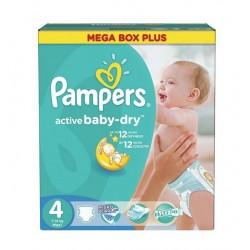 Giga pack 210 Couches Pampers Active Baby Dry taille 4 sur Tooly