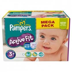 Pack économique 320 Couches de la marque Pampers Active Fit taille 3+ sur Tooly