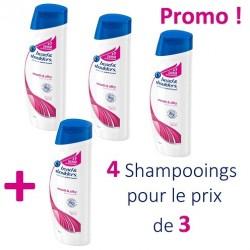 Pack de 4 Shampooings Head & Shoulders de la gamme Antipelliculaire Lisse et Soyeux - 4 au prix de 3 sur Tooly