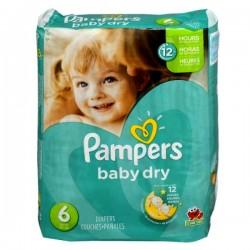 Pack d'une quantité de 33 Couches Pampers de la gamme Baby Dry de taille 6 sur Tooly