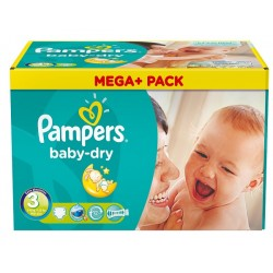 180 Couches Pampers Baby Dry taille 3 sur Tooly