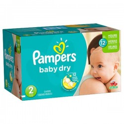 Maxi Pack de 252 Couches de Pampers Baby Dry taille 2 sur Tooly