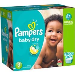 Pack d'une quantité de 300 Couches Pampers Baby Dry de taille 3 sur Tooly