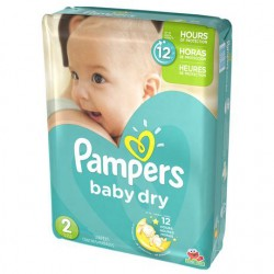 Pack 42 Couches Pampers Baby Dry taille 2 sur Tooly