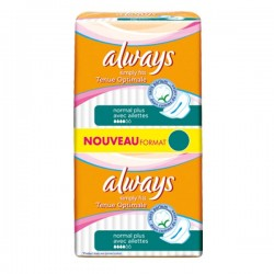 Pack 144 Serviettes hygiéniques de la marque Always Simply Fits de taille normal plus sur Tooly
