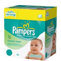 Maxi Pack de 768 Lingettes Bébés de la marque Pampers Natural Clean sur Tooly