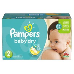Mega Pack 396 Couches Pampers de la gamme Baby Dry taille 2 sur Tooly