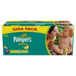 Mega Pack 336 Couches Pampers de la gamme Baby Dry taille 4+ sur Tooly