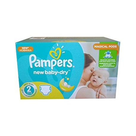 Pampers Baby Dry Taille 3 Midi 4-6kg Giga Pack de 136 Couches