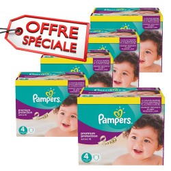 Pack d 39 une quantit de 68 couches de la marque pampers - Couches pampers active fit taille 4 giga pack ...