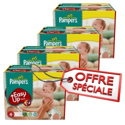 Maxi giga pack jumeaux 840 Couches Pampers Easy Up taille 4 sur Tooly
