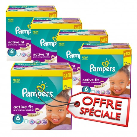 Couches Pampers Taille 6 active fit 64 couches b/éb/é