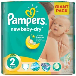 Paquet 68 Couches Pampers New Baby Dry taille 2 sur Tooly