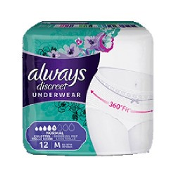 Pack 12 culottes incontinence ALWAYS DISCREET Normal sur Tooly