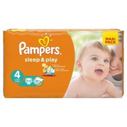 Pack 50 Couches Pampers Sleep & Play taille 4 sur Tooly