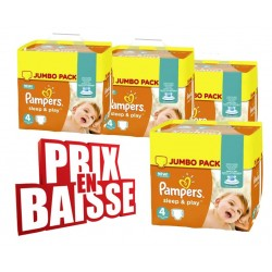 Gros pack 50 Couches Pampers Sleep & Play taille 4 sur Tooly