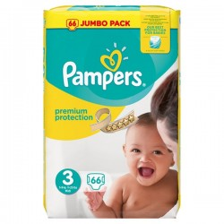 Pack 66 Couches Pampers Premium Protection 3 sur Tooly