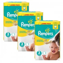 Gros pack 198 Couches Pampers Premium Protection 3 sur Tooly