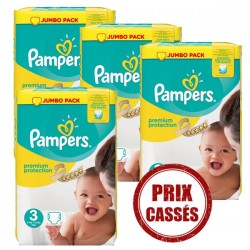 Pack économique 330 Couches Pampers Premium Protection 3 sur Tooly