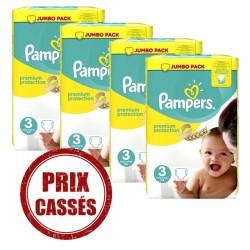 Pack économique 232 Couches Pampers Premium Protection 3 sur Tooly