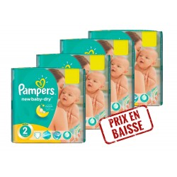 Maxi Mega pack 272 Couches Pampers New Baby Dry 2 sur Tooly