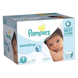 Maxi Mega pack 315 Couches Pampers New Baby Sensitive taille 1 sur Tooly