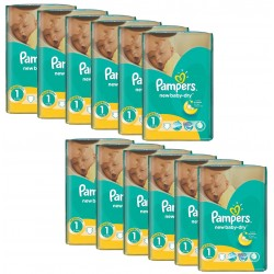Giga Pack 860 Couches Pampers New Baby Dry taille 1 sur Tooly