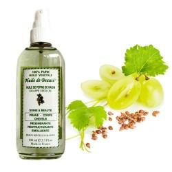 Huile de beauté aux pépins de raisin 100% végétale et pure sur Tooly
