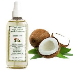 Huile de beauté au coco 100% pure et végétale sur Tooly