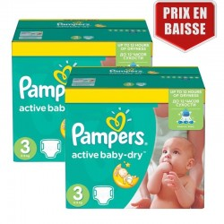Maxi Pack 410 Couches Pampers Active Baby Dry taille 3 sur Tooly