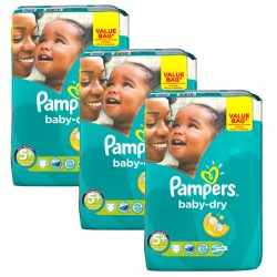 Maxi Pack 168 Couches Pampers Baby Dry taille 5+ sur Tooly