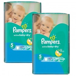 Mega Pack 176 Couches Pampers Active Baby Dry taille 5 sur Tooly