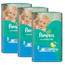 Giga Pack 264 Couches Pampers Active Baby Dry taille 5 sur Tooly
