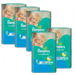 Maxi Pack 352 Couches Pampers Active Baby Dry taille 5 sur Tooly