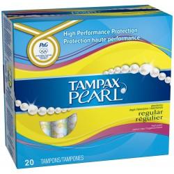 Pack de 20 Tampons Tampax Pearl taille regulier avec applicateur sur Tooly