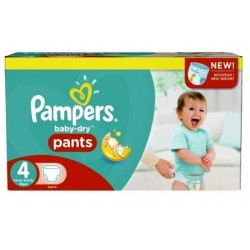 Giga pack 203 Couches Pampers Baby Dry Pants taille 4 sur Tooly