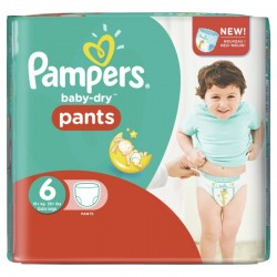 Pack 23 Couches Pampers Baby Dry Pants taille 6 sur Tooly