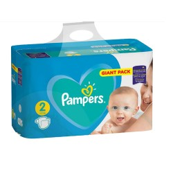 Pack 94 Couches Pampers Active Baby Dry taille 2 sur Tooly